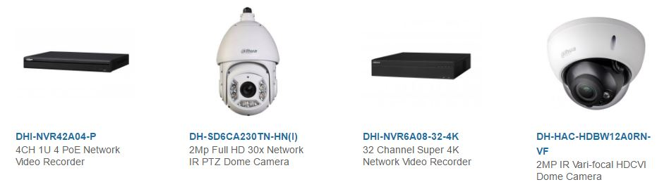Dahua Megapixle Video Security System