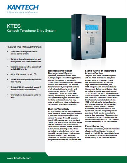 Kantech Residential Card Access PDF